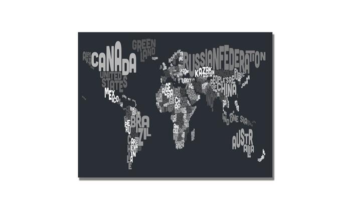 Michael tompsett font world map vii canvas art groupon michael tompsett font world map vii canvas art gumiabroncs Images