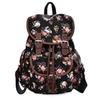 Girls Floral Canvas Rucksack School College Backpack