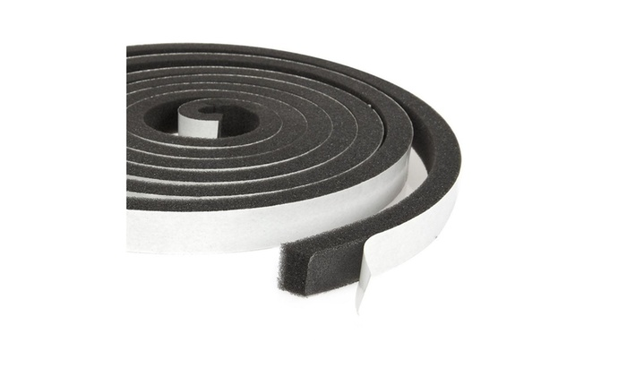 3-Pack Weather Stripping Foam Tape, Multi-Surface Black