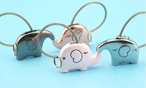 Save The Elephant Love Keychain Set