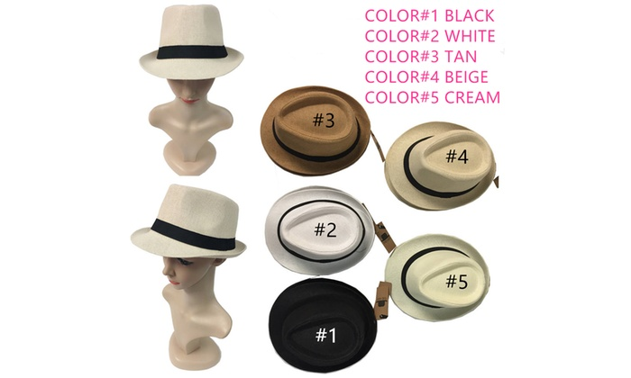 bac5d8095be Up To 13% Off on Straw Fedora Hat Trilby Cuban...