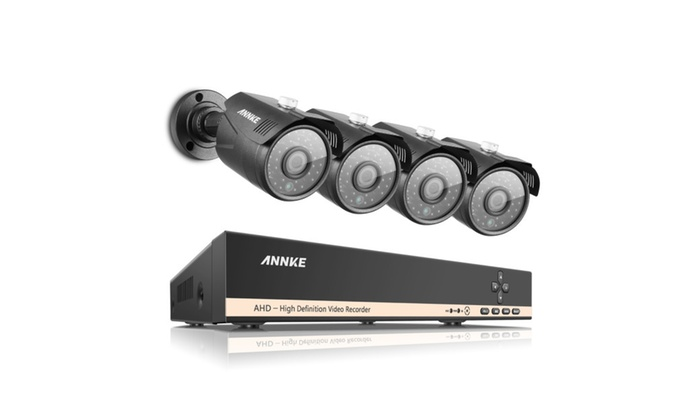 ANNKE 8CH HDMI Surveillance Video 4Pcs 1.3MP Security Camera System