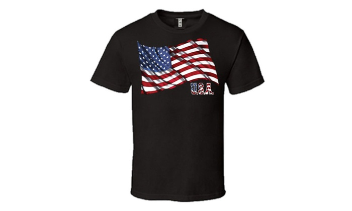 Patriotic Waving USA Flag Pattern 4th of July T-shirt
