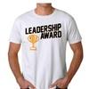 Great Leadership Award Men's White T-shirt NEW Sizes S-2XL