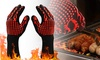 BBQ Grill Gloves Heat Resistant Food Grade Silicone Non Slip Cooking Gloves