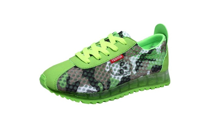 Women's Camouflage Mesh Lace Up Running Shoes
