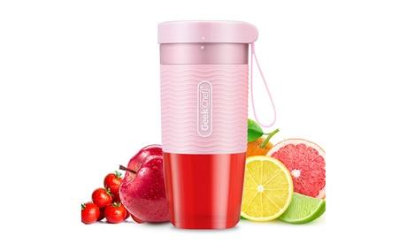300ml Rechargeable Personal Fruit Vegetable Blender, Waterproof Motor Base