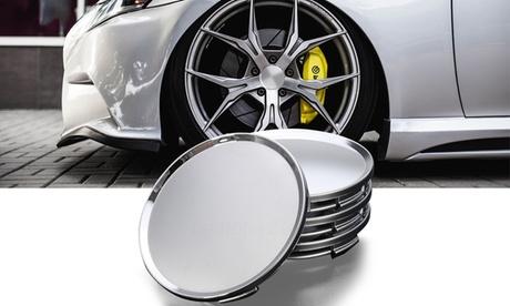 4Pcs 63mm ABS Vehicle Car Wheel Center Caps Cover Tyre Tire Rim Hub Cap