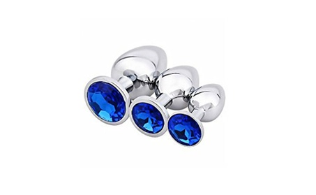 3 Piece Luxury Jewelry Design Fetish Stainless Steel Anal Plug 258225a1-eed4-47a9-b635-65ea0d1e7a32