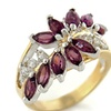 Marquis Amethyst CZ Cocktail Ring 14K Yellow Gold Over Stainless Steel