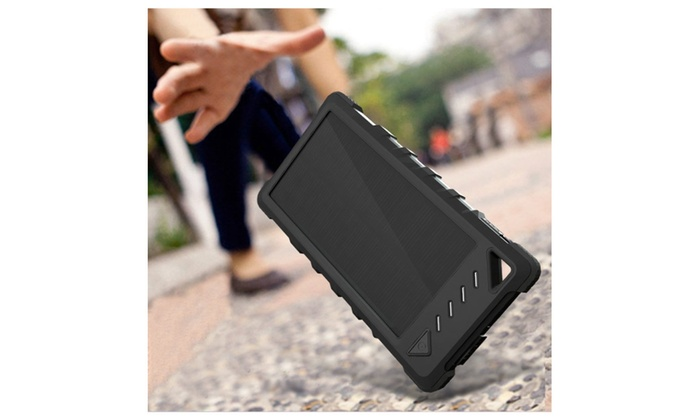 new arrival 13ec1 be944 FKANT Waterproof Solar Charger, Waterproof Dual USB Solar Power Bank ...