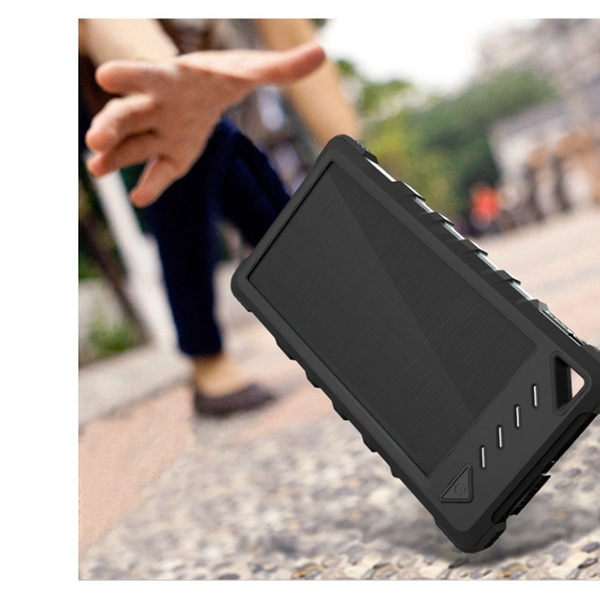 new styles 32fed f5973 FKANT Waterproof Solar Charger, Waterproof Dual USB Solar Power Bank