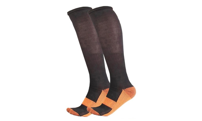 Marvelous Copper Unisex Anti-Fatigation 3-Pack Compression Socks