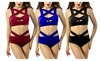 Fashion sexy two-piece swimsuit chest cross straps Set