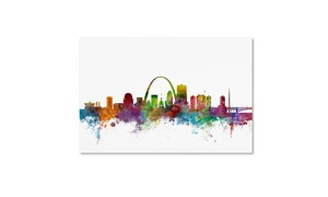 Michael Tompsett St. Louis Missouri Skyline Canvas Print at Groupon Goods, plus 6.0% Cash Back from Ebates.