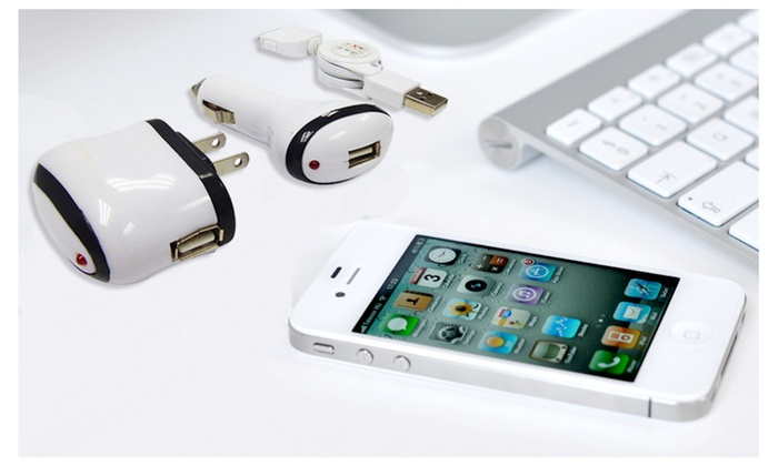 Buy It Now : USB Wall and Car Charger Set for USB devices