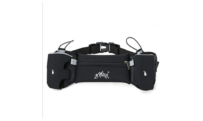 Double Pack Running Waist Pack With Two Water Bottle Holders