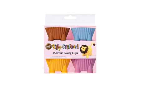 Wilton Silly-Critters! - Pack of 4 Silicone Baking Cups 86bb6424-07d1-4625-924a-858a56d77d07