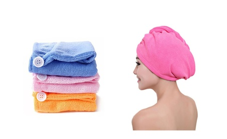 4-Pack Super Absorbent Microfiber Hair Drying Turbans 8f330ade-4265-4af3-9c60-c8b864ab8c61