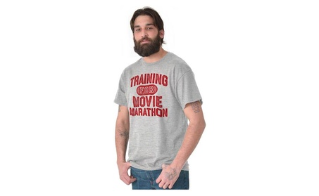 Movie Marathon Train TV Workout Train Gym Tee T-Shirt