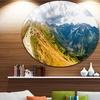 Low Tatras Hike Panorama' Landscape Metal Circle Wall Art