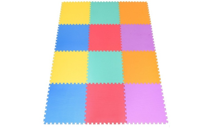 Up To 18 Off On 12 Pcs Baby Kids Carpet Puzzl Groupon Goods