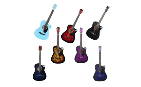 JNTworld 38 Inch 6 Strings Acoustic Guitar Musical Instrument 7e132a33-543f-4426-9b9d-68c18cf72c01
