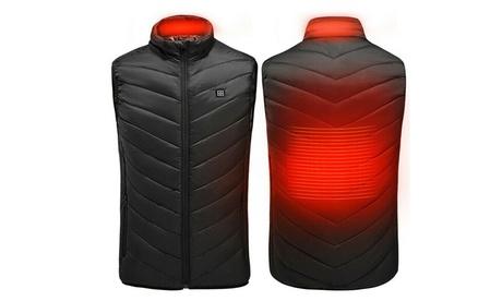 Men's Lightweight Heated Vest Winter Heated Warm Vest Heating Coat Jacket