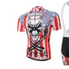 Men's Cycling Short Sleeve Jersey + 3D Padded Cycling Bib Shorts Set