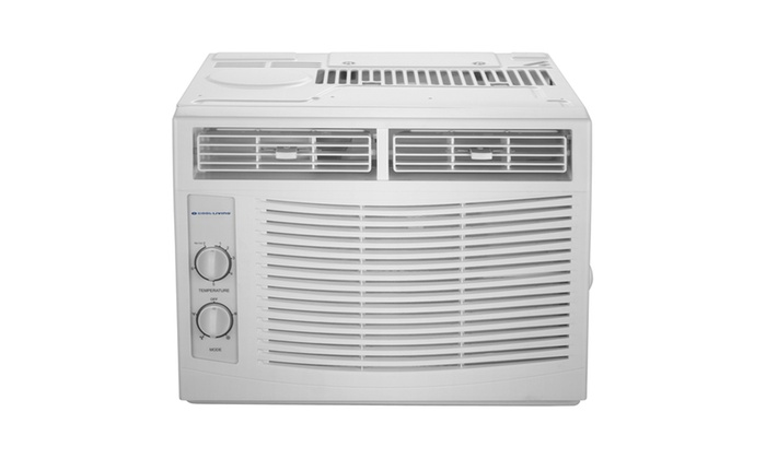 cool living 5 000 btu window air conditioner 115v with window kit groupon. Black Bedroom Furniture Sets. Home Design Ideas