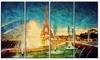 Eiffel Tower from Fountain - Landscape Digital Canvas Print