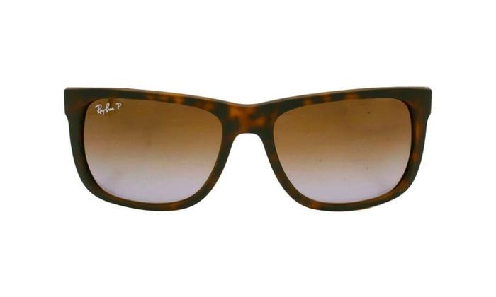 fd1d770ca99 Ray Ban Justin RB4165 865 T5 54 Matte Tortoise   Brown Gradient Polari