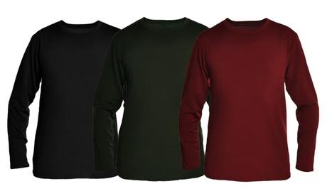 Men's Fleece-Lined Long-Sleeve Thermal Tops (3-Pack) 54af53b5-6cb2-4442-ab37-ddd996fd84e3