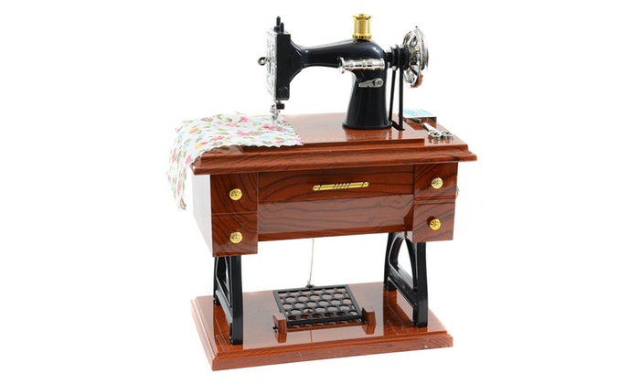 Jacki Design Brown Music Box Gifts Sewing Machine Music Box Groupon Impressive Sewing Machine Music Box