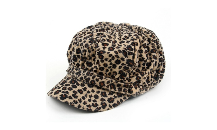 Leopard Animal Print Newsboy Hat Cap 807HC
