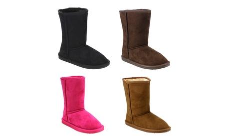 Beston GE49 Girl's Mid Calf Pull-On Style Winter Snow Boots 87438738-83bc-4497-8e1b-9c1684d05226