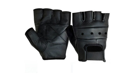 Perfect Mens Leather Fingerless Driving Motorcycle Biker Gloves a641a0e8-1640-4f46-bcc4-daafbe627852
