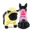 Sweater and Black Leather Skirt for Dog Pet Clothing