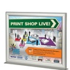 Counter Slide In Frame 8.5x11 Silver Profile Mitred Corner Double Side
