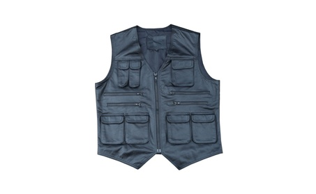 ARD CHAMPS® Genuine Cow Leather Mens Vest Fishing Photography Vest c5214e58-a5be-4e67-b5de-a43c15c115bc