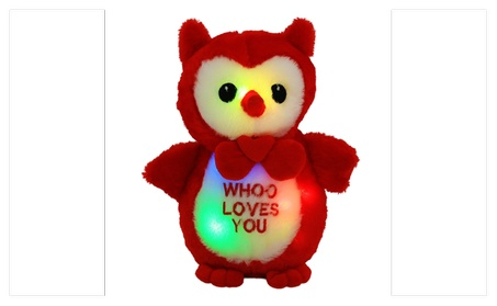 Stuffed Cute LED Cuddle Loving You Owl 48314a27-9c61-42d3-8426-f48b4abd97ba