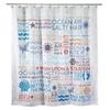 Avanti Linens 13676HMUL Beach Words Shower Curtain, Medium