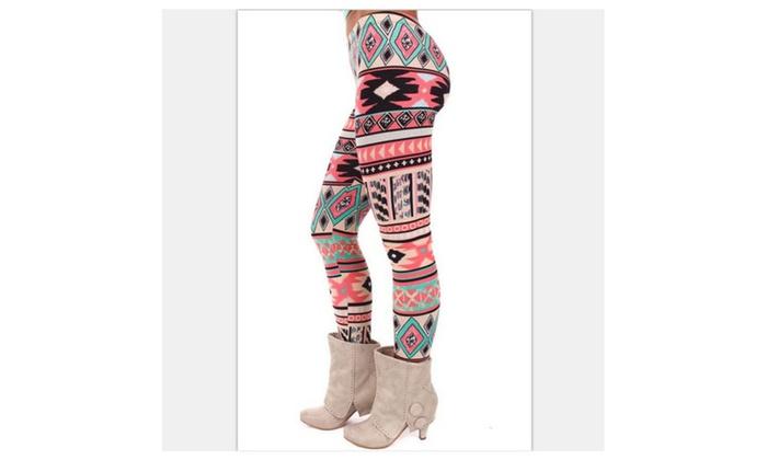 Stretchy Women's Aztec Leggings