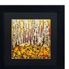 Roderick Stevens 'Silver Aspens' Matted Black Framed Art