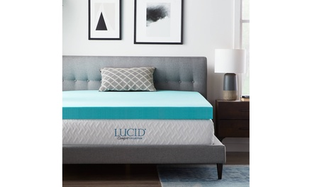Lucid Comfort Collection Gel Memory Foam Toppers - Multiple Options Available