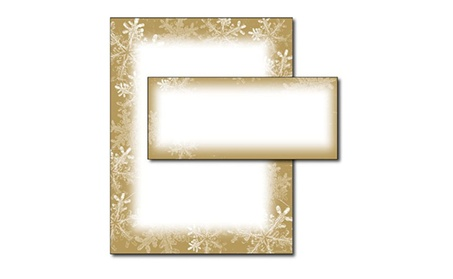 Frosted Holiday Wishes Letterhead & Envelopes - 40 Sets 1c85cbc7-1619-4c2c-82ae-f3d86fdd5171