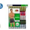 Fruit of the Loom Mens Tartan Plaids Boxer Shorts, 5-Pack