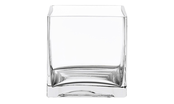 Clear Glass Square Cube Vases 4 In Wedding Centerpiece Pack Of 18