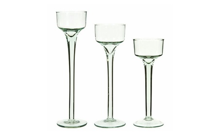 Glass Candle Holders Set of 24 Tea Light Holders / Tall Candle Holders 14344312-b814-496d-a518-dfe243d15380