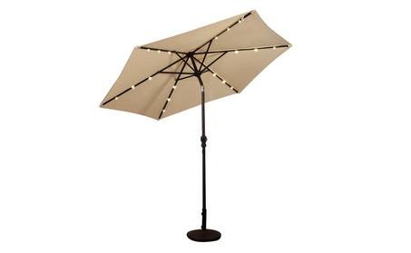 Patio Umbrella w/ 48 LEDs Outdoor Market Beach Garden 0e9d08a9-379e-4f22-93f8-c6c73d91511c